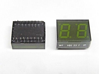 Vqe 23f 2 Digits 7-segment Green Led Display Rft New Lot Of 4pcs