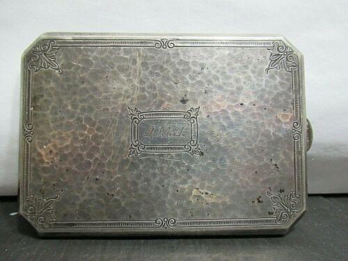 Vintage Sterling Silver Cigarette Box, JMJ in Monogram