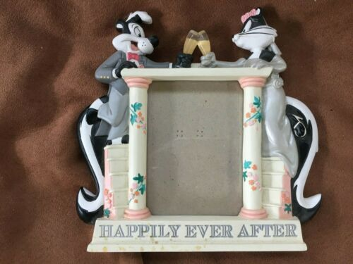 Pepe Le Pew Wedding Picture Frame--Happily Ever After
