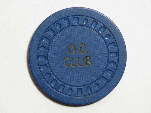 Double O Club O.O. - Las Vegas - $1 Casino Chip - SQSQDI 1940s