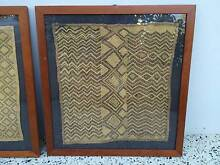 Set of 2 framed African textile art Floreat Cambridge Area Preview