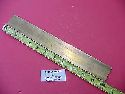 18 X 2 C360 Brass Flat Bar 12 Long Solid Plate .125 Mill Stock H02