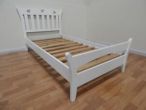white love heart single bed frame SYDNEY DELIVERY & ASSEMBLY Windsor Hawkesbury Area Preview