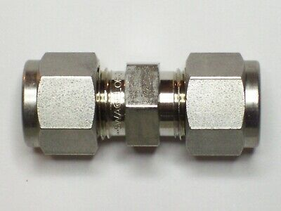1 - Swagelok Stainless Steel Union Fitting 38 Tube X 38 Tube Ss-600-6