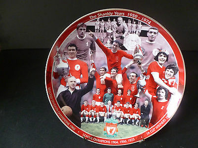 "DANBURY MINT LIVERPOOL FOOTBALL CLUB ""THE SHANKLY YEARS 1959 - 1974""  8"" PLATE"