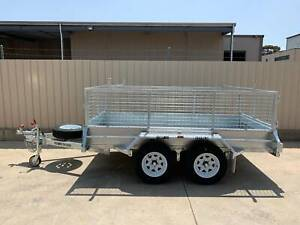 10X5 HEAVY DUTY GALVANISED TRAILER WITH BRAKES AND CAGE Pooraka Salisbury Area Preview