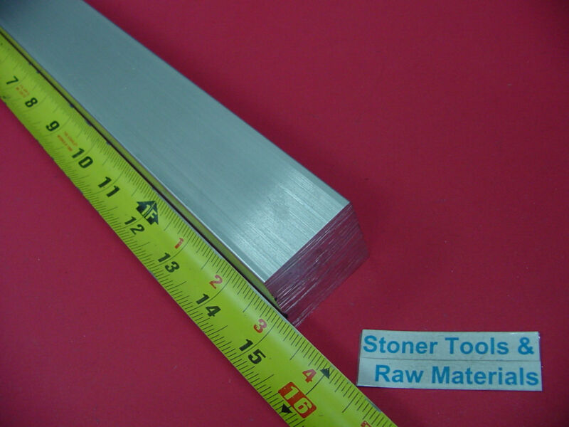 """1-1/2"""" X 1-1/2"""" ALUMINUM SQUARE 6061 BAR 15"""" long Solid T6511 Extruded Bar Stock"""