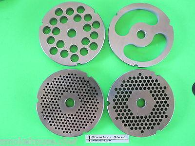 Four  32 Meat Grinder Plates Discs For Hobart Lem Cabelas Biro Torrey Etc