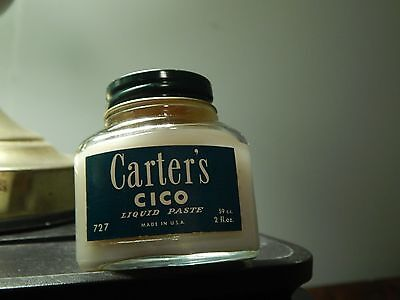 Carter's Ink [Boston-New York-Chicago] CICO Liquid Paste (2oz) JAR *NEW_NOS* USA