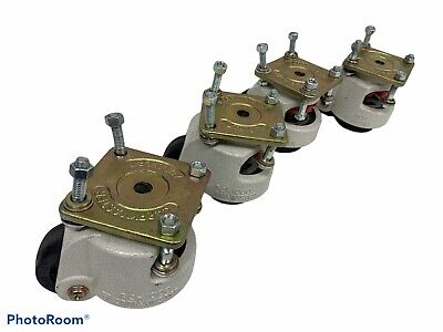 Lot Of 4 Auto Cft Zambus Carrymaster Ac-1000 Caster Wheel 8701