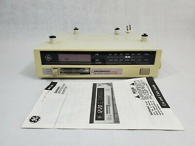 GE SPACEMAKER 7-4260A Under Cabinet Kitchen AM/FM Clock Radio & Cassette TESTED