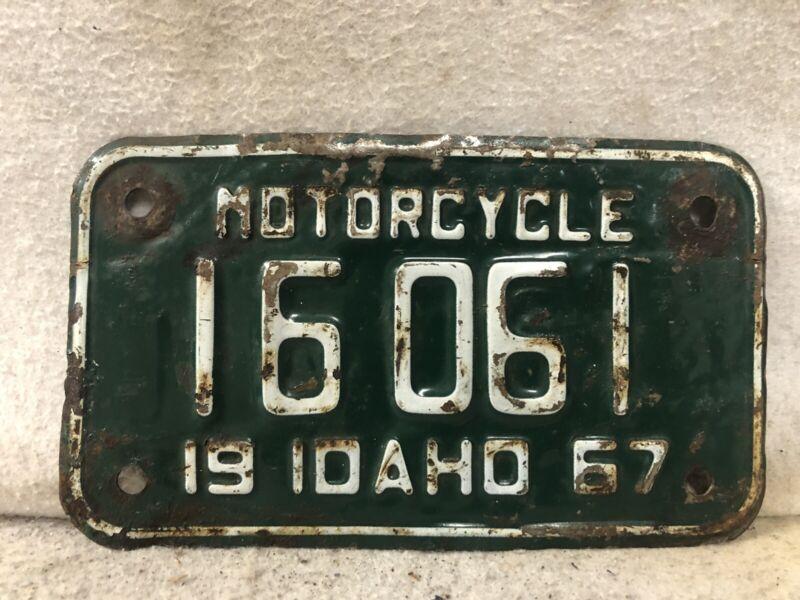 Vintage 1967 Idaho Motorcycle License Plate