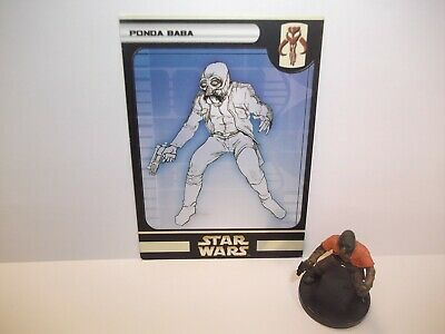 Star Wars Miniatures - Ponda Baba 24/60 + Card - Rare - Universe
