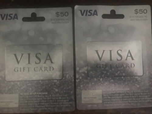 100 Gift Card. No Activation Fees, Ready To Use, GR8 Gift. Comes W Receipts - $97.02