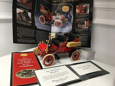 Franklin Mint 1903 Ford Model A 1:16 Scale Diecast Model red Car B11UK19 W/ TAG