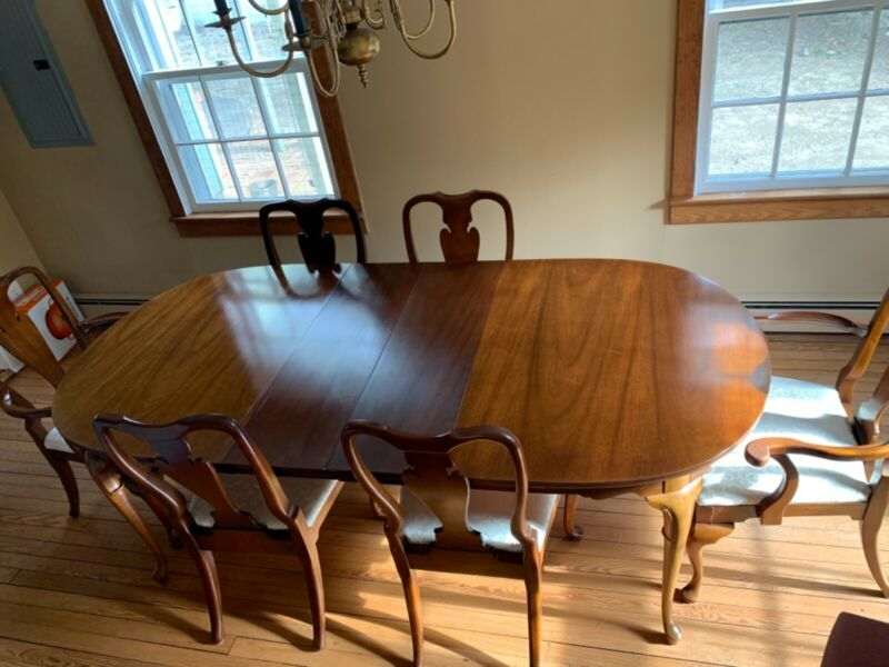 Hickory Furniture Co. Mahogany Dining Set- Table and Six Chairs