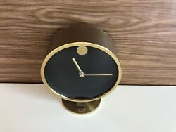 Howard Miller Quartz Germany Brass Mavado Desk Table Top Clock TRW LOGO Works