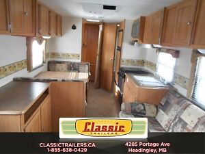 2007 Trail Sport 27BH Great used fibreglass sided bunk model tra