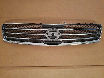 fits 2009 2014 NISSAN MAXIMA Front Bumper Upper Grille Black  Chrome NEW