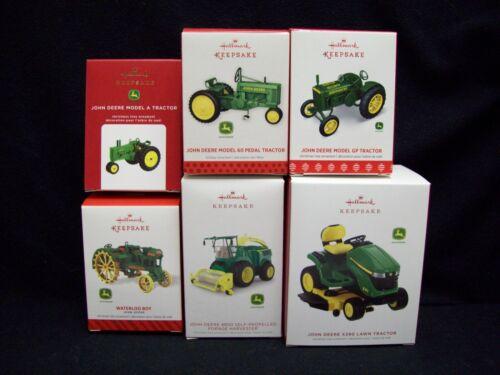Hallmark John Deere Tractor set of 6 Christmas Ornaments.