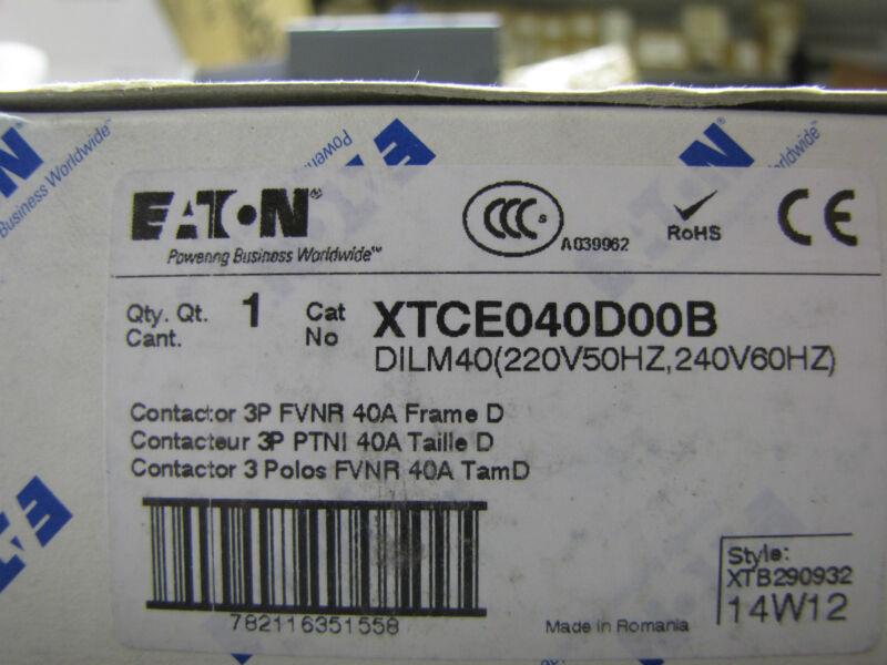 Eaton Cutler Hammer Klokner Moeller XTCE040D00B contactor DILM40