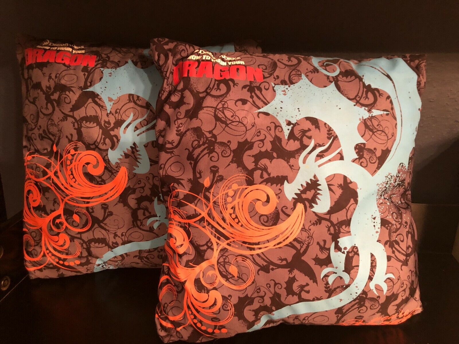 Set Of 2 -- 11 Dreamworks How To Train Your Dragon You re Toast Throw Pillows - $26.99