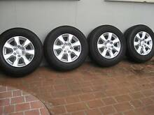 """GENUINE MITSUBISHI PAJERO ALLOY WHEELS AND TYRES 17"""" (SET OF 4) Liverpool Liverpool Area Preview"""