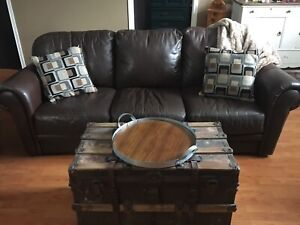 100% Genuine Leather Couch Set