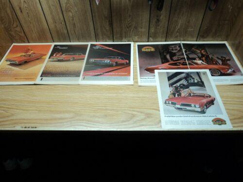 Lot (6) 1965 Olds F-85 442 1966 442 Cutlass 1967 442 1969 Cutlass S Print Ads