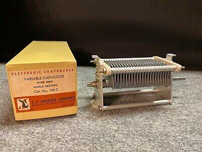 Vintage E.F. Johnson Co Variable Capacitor 154-3- NOS