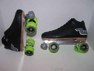 NEW SURE-GRIP S-55 CUSTOM LEATHER ROLLER SKATES MENS SIZE 9