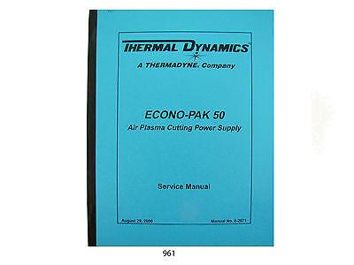 Thermal Dynamics Econopak 50 Plasma Cutter Service Manual 961