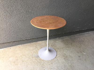 Used, VINTAGE KNOLL EERO SAARINEN TULIP WOOD SIDE TABLE MID CENTURY MODERN EAMES ERA for sale  USA