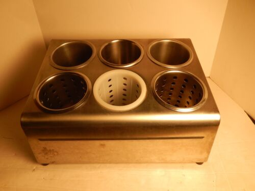 Commercial Silverware Six Hole Stainless Steel Flatware Holder