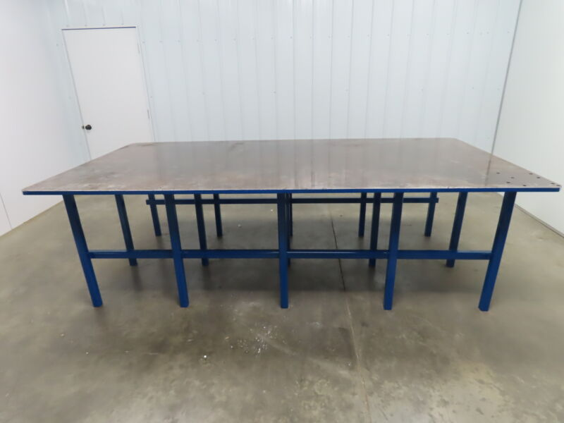 """1"""" Thick Top Steel Fabrication Welding Layout Table Work Bench 120.75""""x60""""x36"""""""