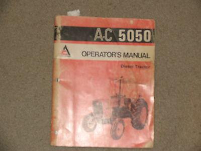 Allis Chalmers Tractor 5050 Operators Manual