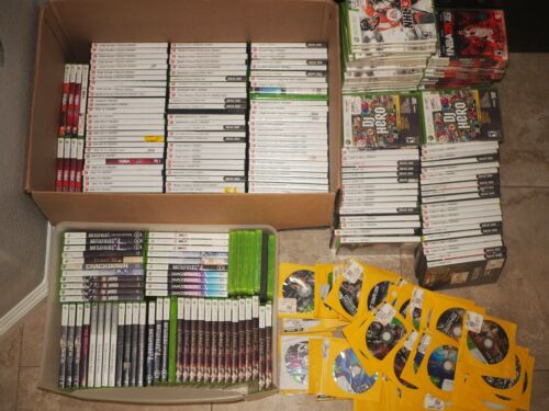 HUGE XBOX 360 Game 370+ Video Games WHOLESALE LOT - ALL TESTED & WORKS Halo WWE