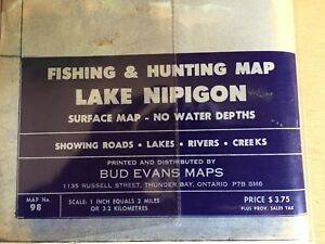 Map Lake Nipigon  Fishing Hunting