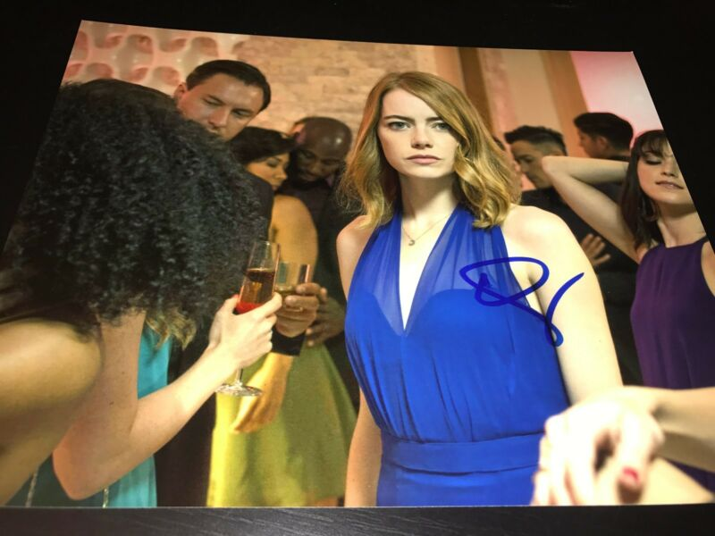 EMMA STONE SIGNED AUTOGRAPH 8x10 PHOTO LA LA LAND IN PERSON COA AUTO OSCAR X8