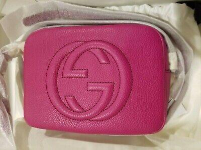 (NWT) Gucci Soho Disco Crossbody Bag - Fuchsia