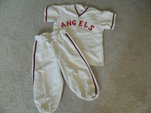 "Vtg 1930s 40s EMPIRE SPORTING GOODS ""ANGLES"" Youth Flannel Baseball Uniform #13"