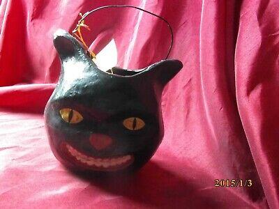 EARLY RARE BETHANY LOWE HALLOWEEN BLACK CAT BUCKET