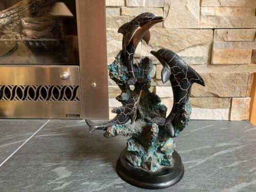 3 Dolphin Sculpture Figurine Statue **Excellent**