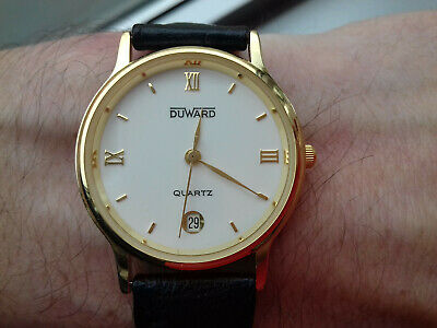 Duward DIPLOMATIC CALENDAR 66196 VINTAGE NEW OLD STOCK WATCH MONTRE SWISS MADE