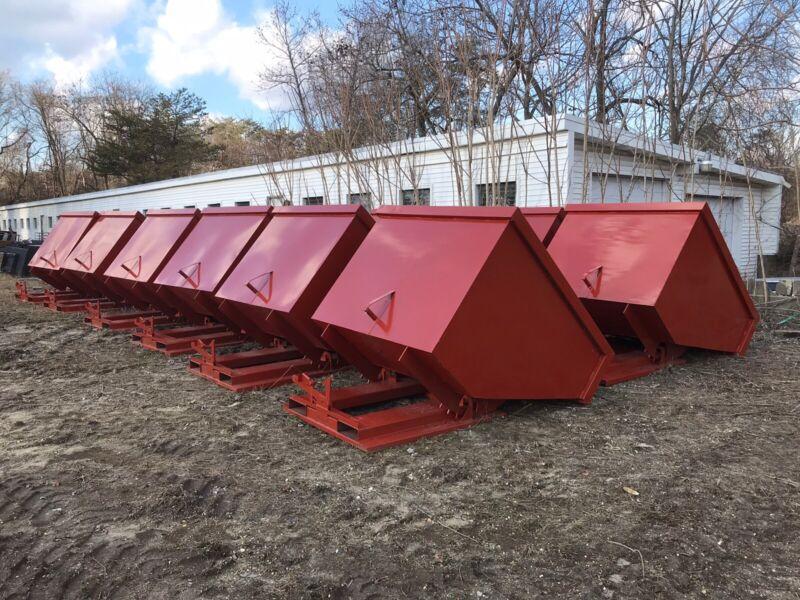 Self Dumping Hopper, Standard Duty, 1/2 Yard - 3 Yard Sizes, 3000 Lb Capacity