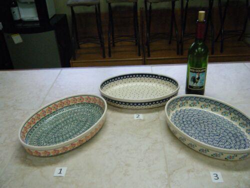 Polish Pottery, Boleslawiec, Large Oval Baker