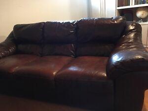 Sofa en cuir 3places