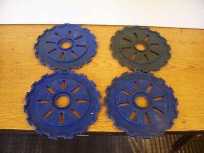 4 Plastic Lustran Ih Planter Plates C8 Dk Blue Lot Y