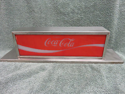 Vintage Coca Cola Coke Soda Fountain Machine Lighted Topper Light Sign