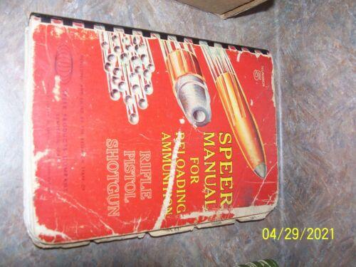Vintage Speer #5 Reloading Manual